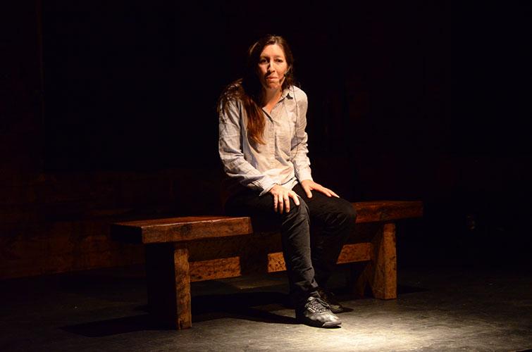 spectacle Si Vaillante, Sophie Biset sur la scène