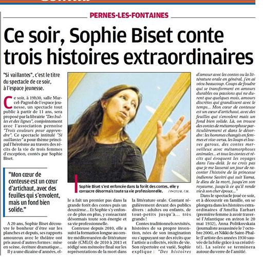 Article La Provence, 2015