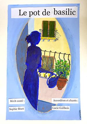 Spectacle de conte : Le pot de basilic, affiche